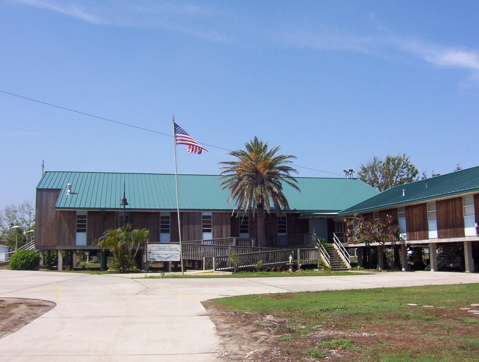 Our Lady of the Isle Church, Grand Isle, LA. - US 200 - Teal Green